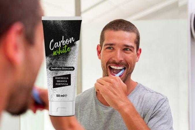 carbon white dentifricio sbiancante